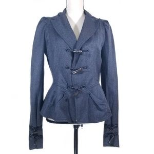 John Galliano Grey Cashmere Blend Fitted Jacket